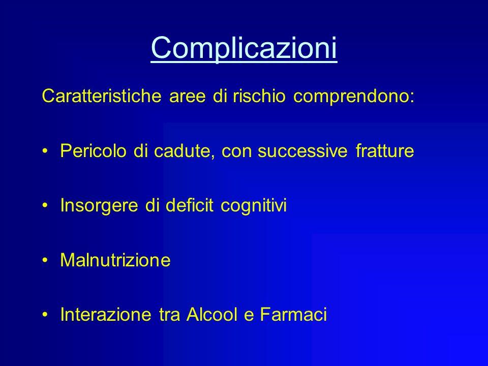 Complicazioni Caratteristiche aree di rischio comprendono: