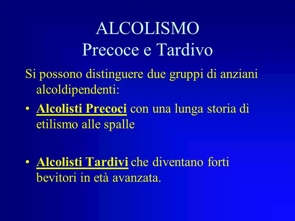 ALCOLISMO Precoce e Tardivo