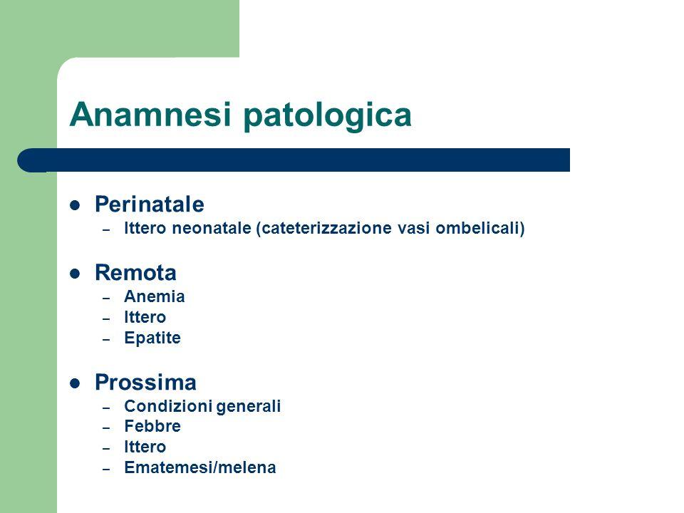 Anamnesi patologica Perinatale Remota Prossima