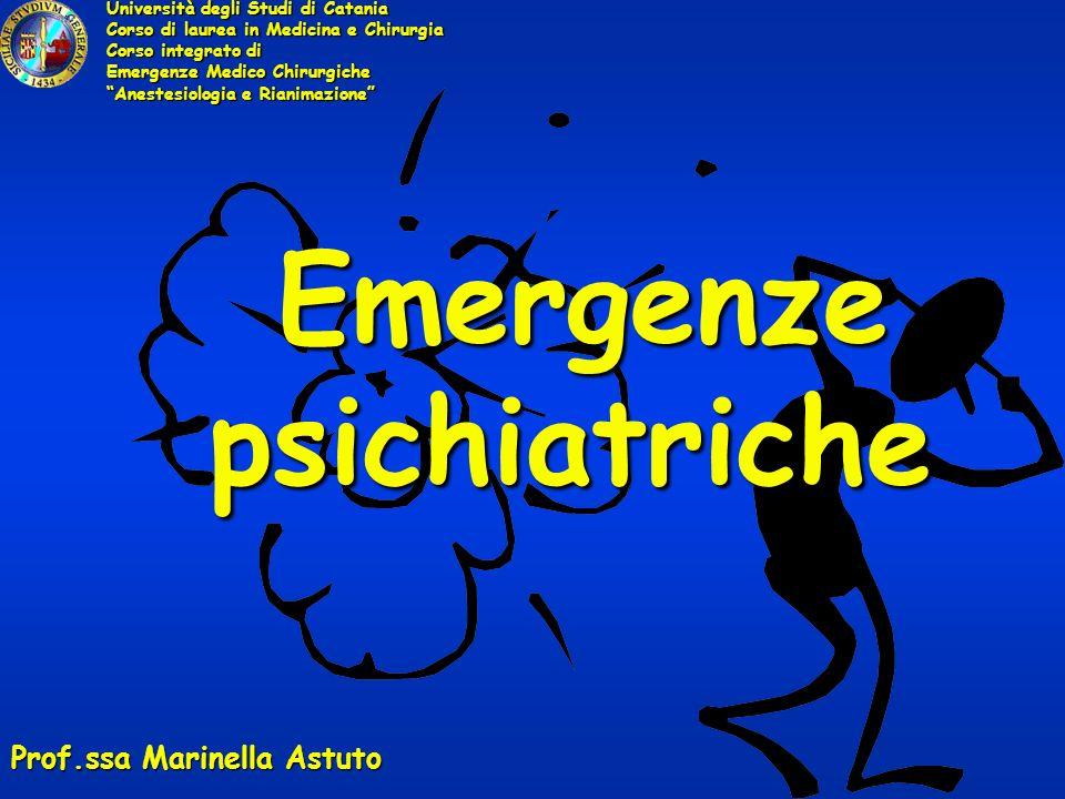 Emergenze psichiatriche