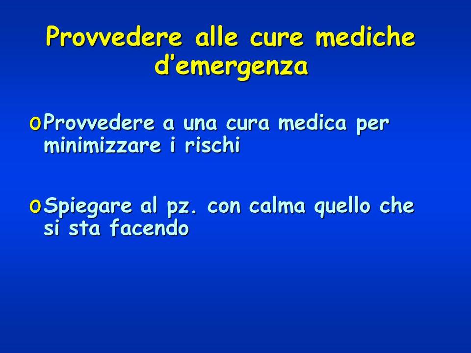 Provvedere alle cure mediche d'emergenza