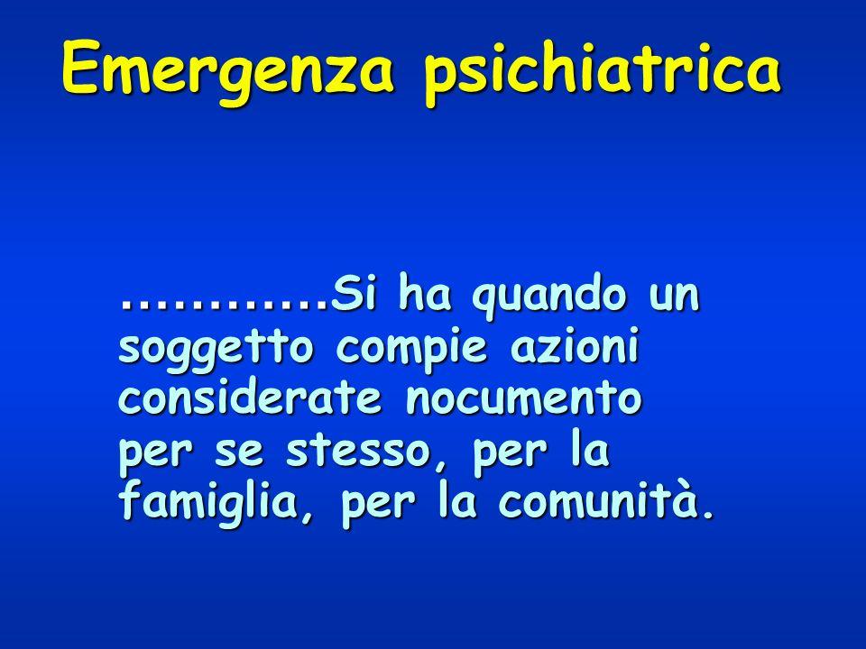 Emergenza psichiatrica