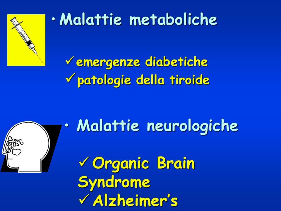 Malattie neurologiche Organic Brain Syndrome Alzheimer's