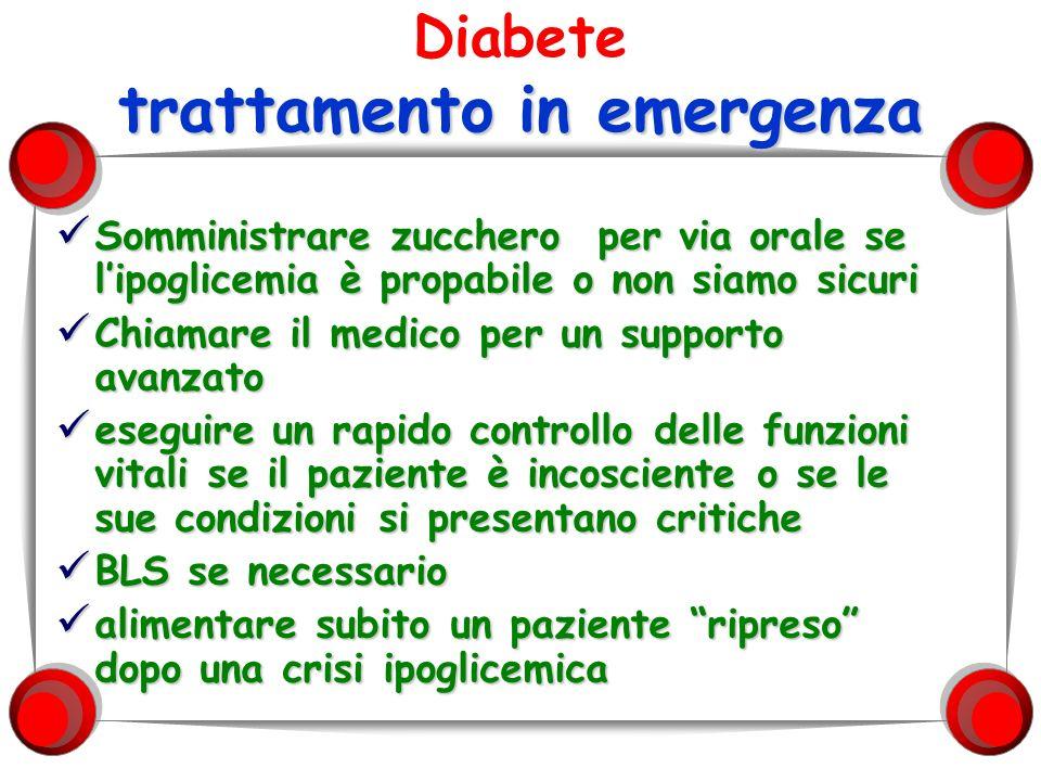 Diabete trattamento in emergenza