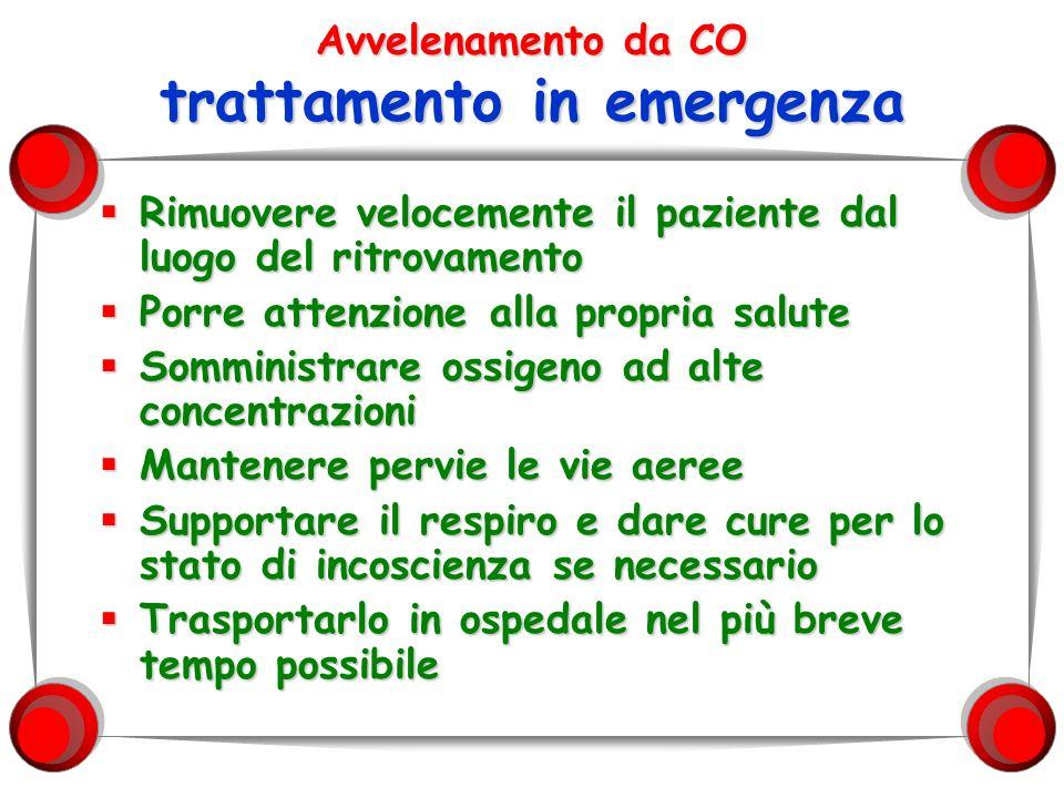 Avvelenamento da CO trattamento in emergenza