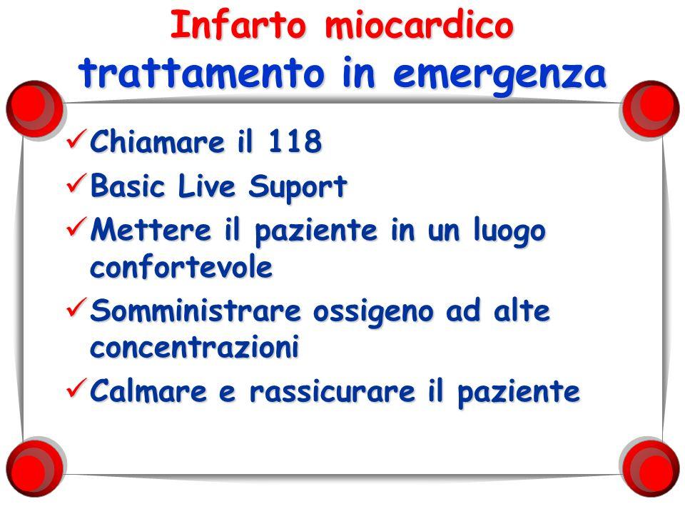 Infarto miocardico trattamento in emergenza