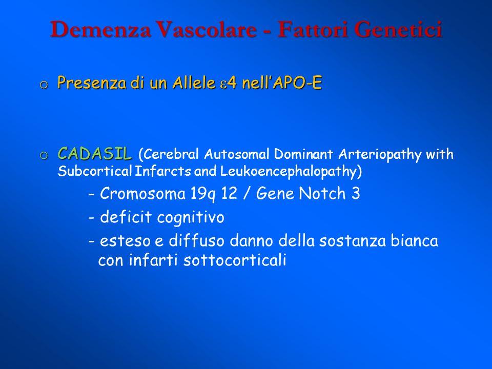 Demenza Vascolare - Fattori Genetici