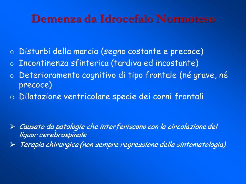 Demenza da Idrocefalo Normoteso
