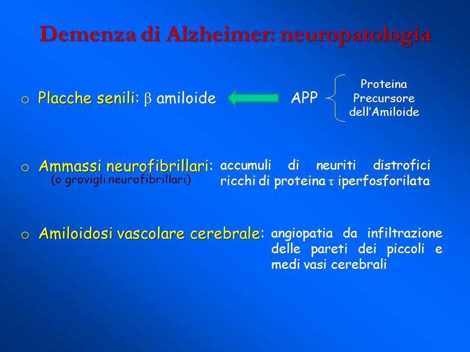 Demenza di Alzheimer: neuropatologia