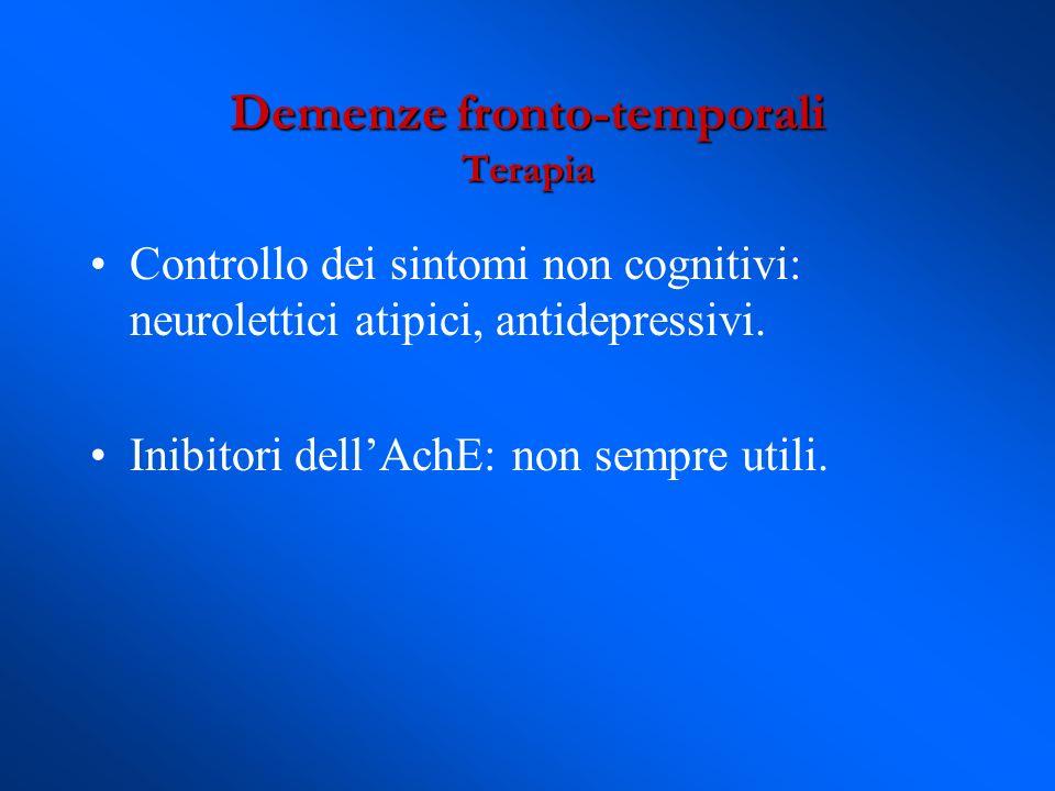Demenze fronto-temporali Terapia