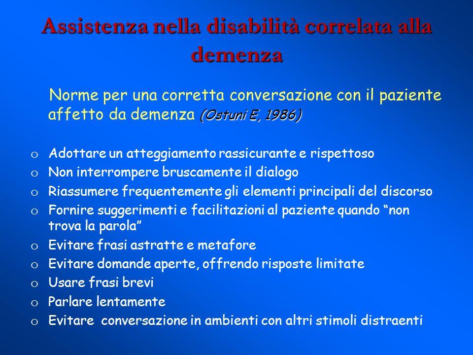 Assistenza nella disabilità correlata alla demenza