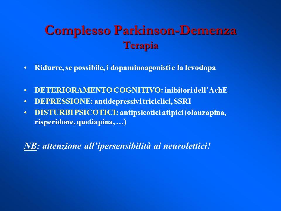 Complesso Parkinson-Demenza Terapia