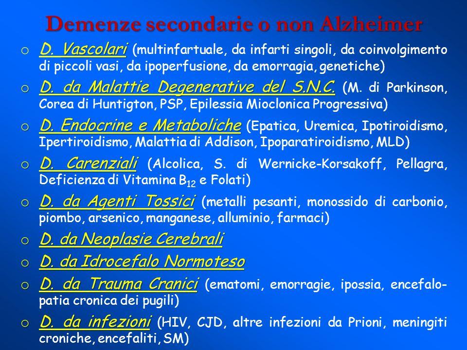 Demenze secondarie o non Alzheimer