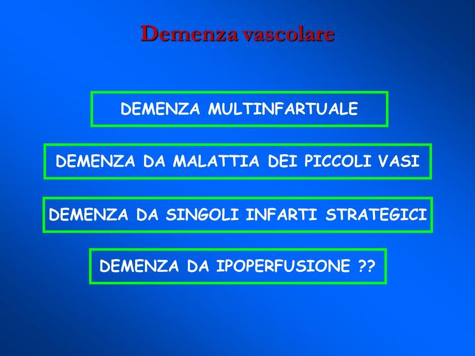 Demenza vascolare DEMENZA MULTINFARTUALE