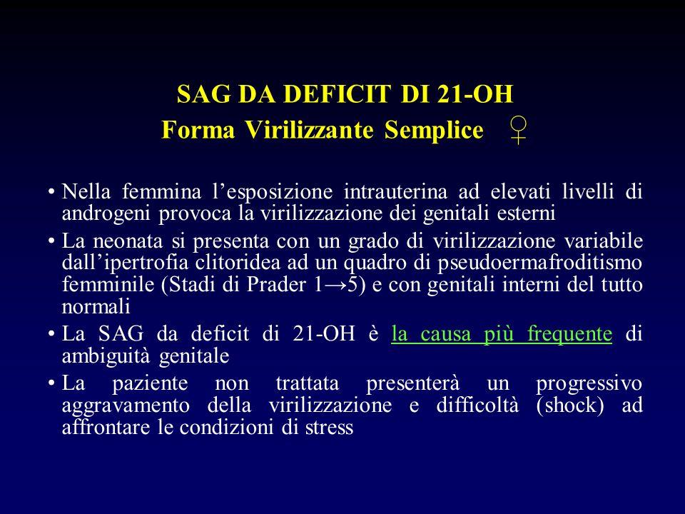 SAG DA DEFICIT DI 21-OH Forma Virilizzante Semplice ♀