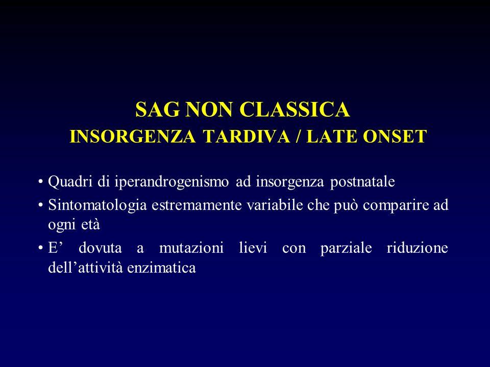 SAG NON CLASSICA INSORGENZA TARDIVA / LATE ONSET