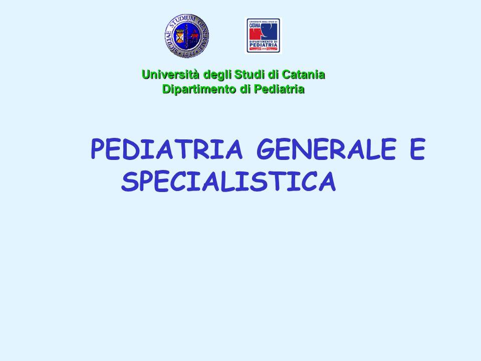PEDIATRIA GENERALE E SPECIALISTICA