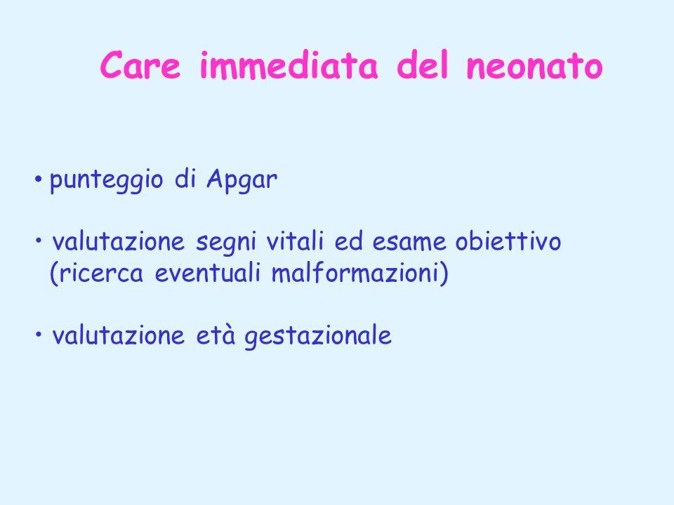 Care immediata del neonato