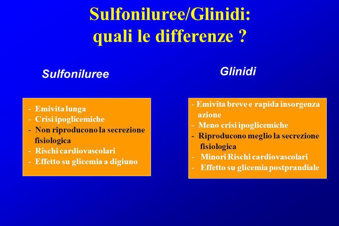 Sulfoniluree/Glinidi: quali le differenze