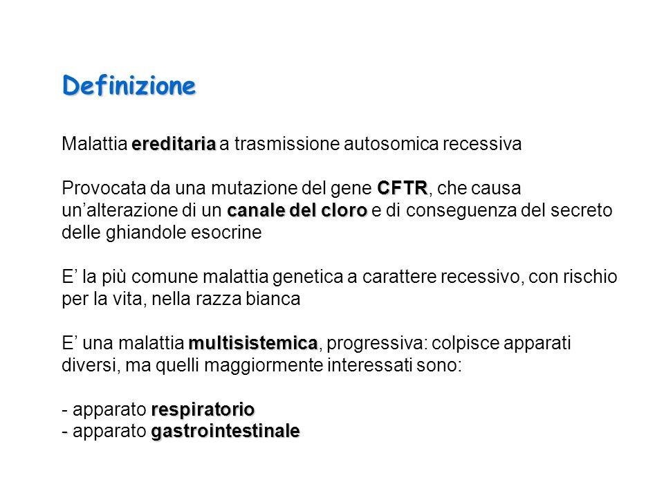 Definizione Malattia ereditaria a trasmissione autosomica recessiva