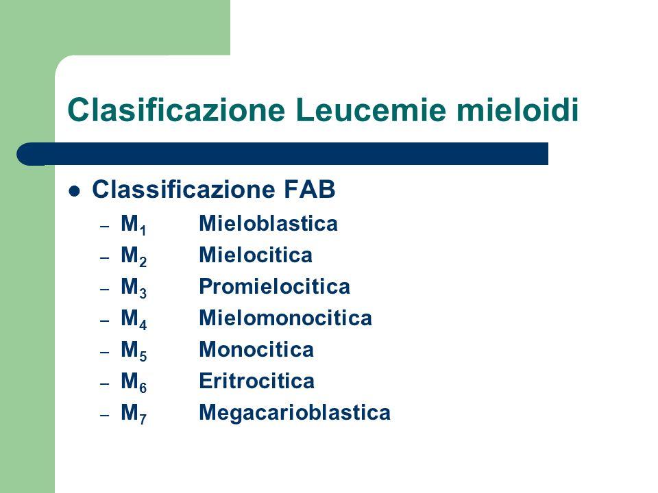 Clasificazione Leucemie mieloidi