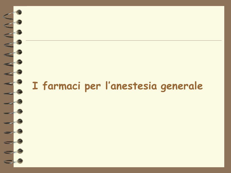I farmaci per l'anestesia generale