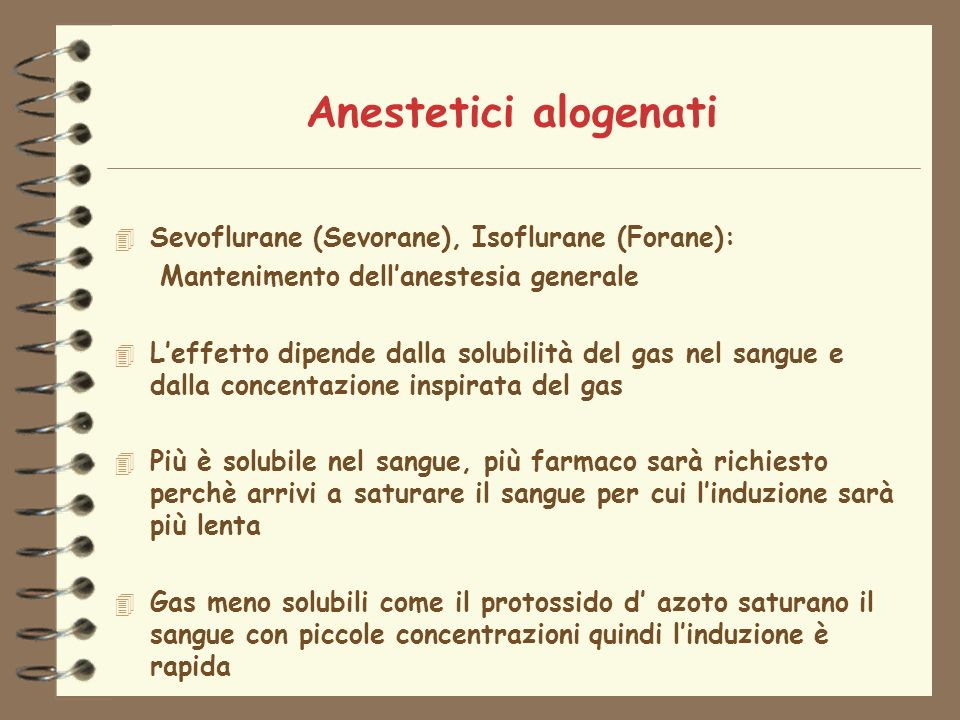 Anestetici alogenati Sevoflurane (Sevorane), Isoflurane (Forane):