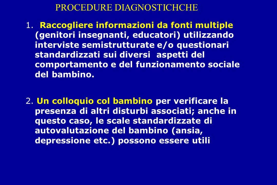 PROCEDURE DIAGNOSTICHCHE