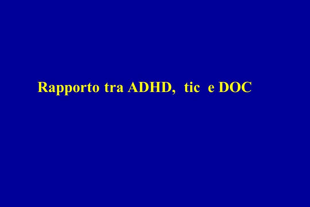 Rapporto tra ADHD, tic e DOC