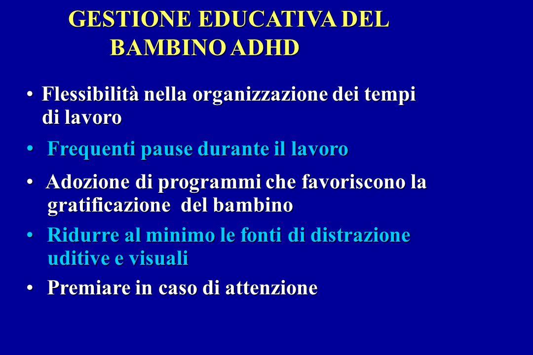 GESTIONE EDUCATIVA DEL BAMBINO ADHD