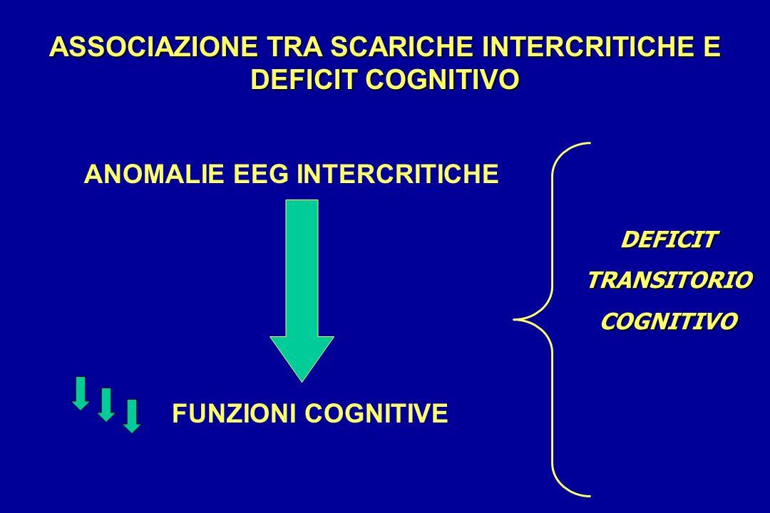 ASSOCIAZIONE TRA SCARICHE INTERCRITICHE E DEFICIT COGNITIVO