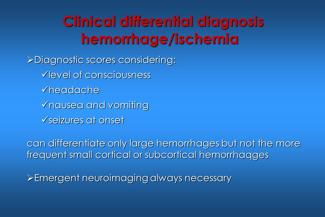Clinical differential diagnosis