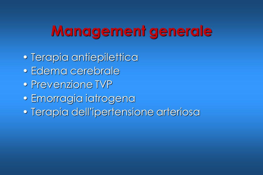 Management generale Terapia antiepilettica Edema cerebrale
