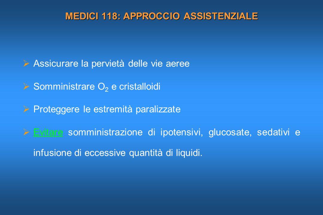 MEDICI 118: APPROCCIO ASSISTENZIALE