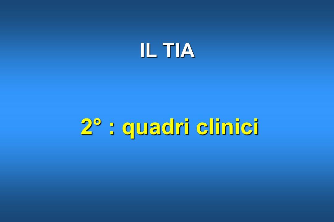 IL TIA 2° : quadri clinici 6