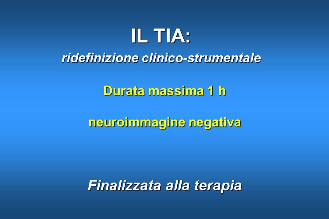 Durata massima 1 h neuroimmagine negativa Finalizzata alla terapia