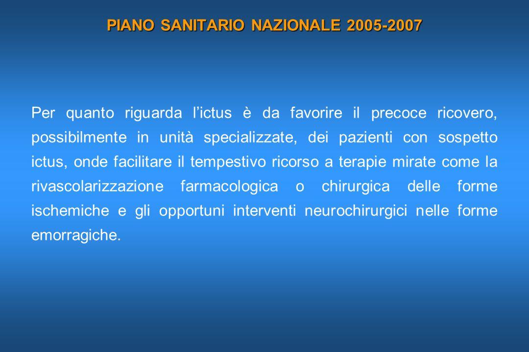 PIANO SANITARIO NAZIONALE 2005-2007