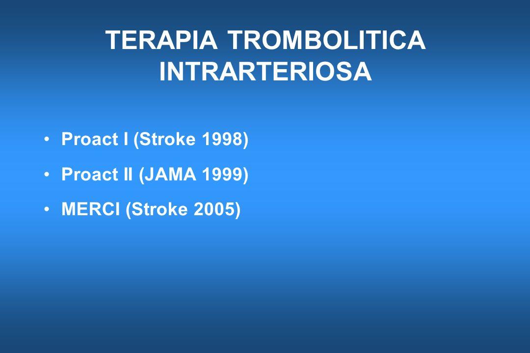 TERAPIA TROMBOLITICA INTRARTERIOSA