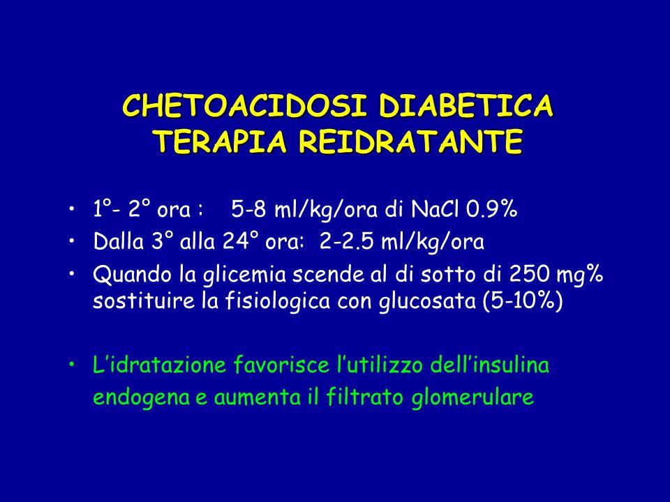 CHETOACIDOSI DIABETICA TERAPIA REIDRATANTE