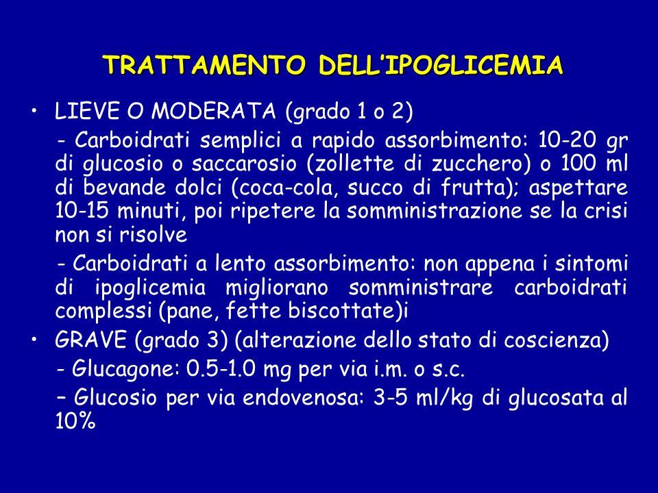 TRATTAMENTO DELL'IPOGLICEMIA