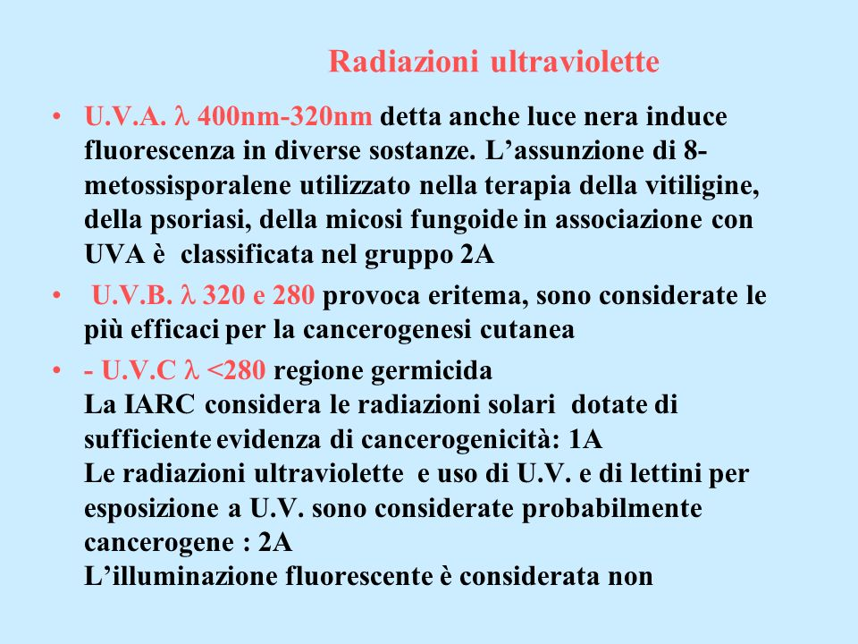 Radiazioni ultraviolette