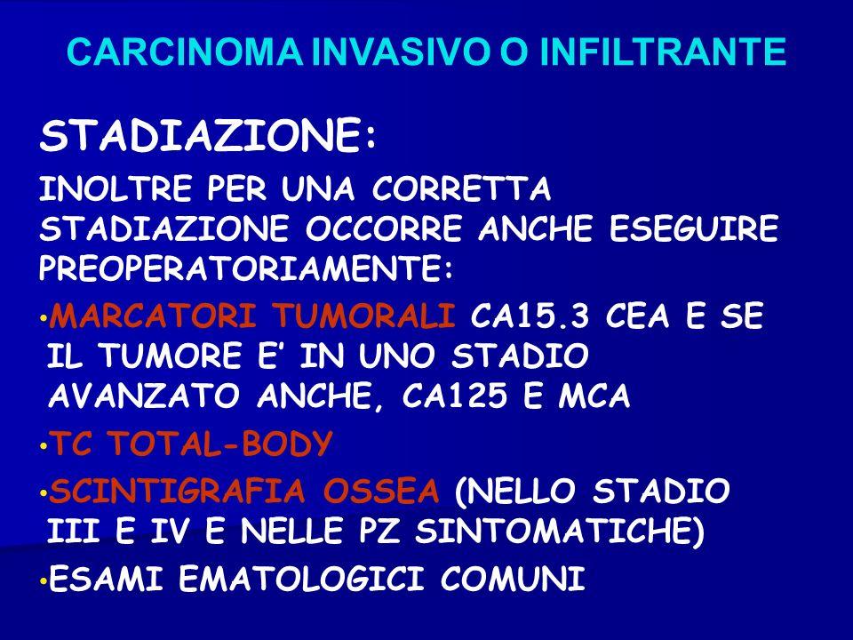STADIAZIONE: CARCINOMA INVASIVO O INFILTRANTE