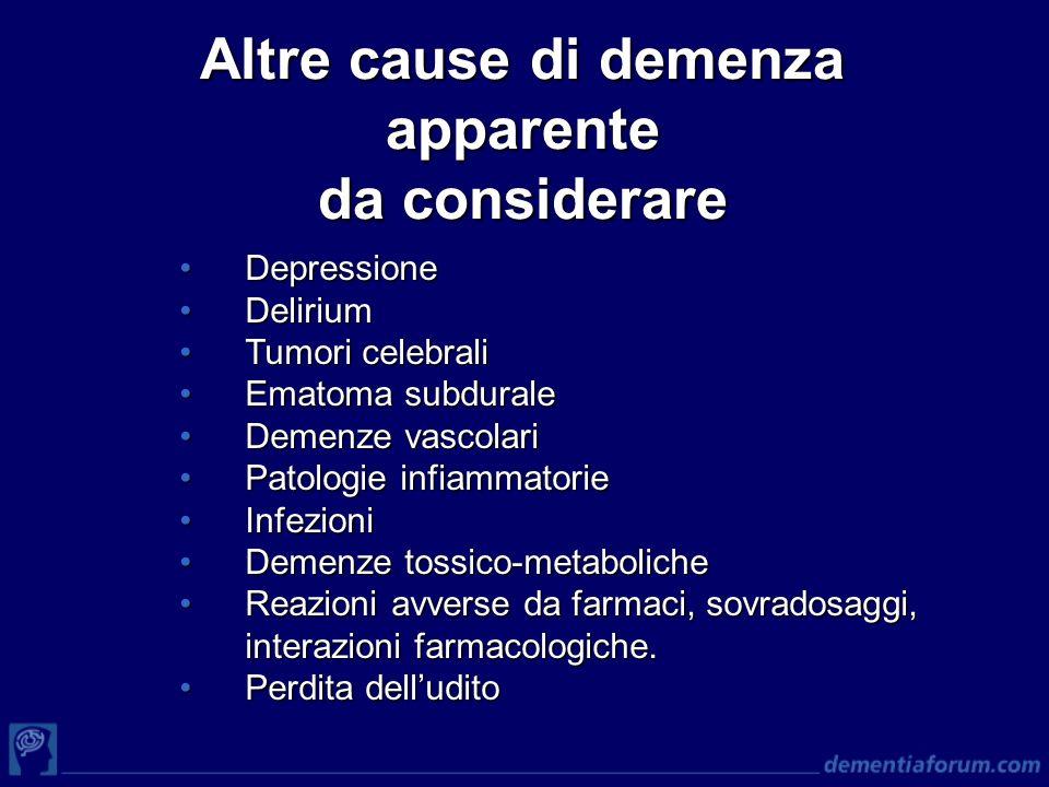 Altre cause di demenza apparente