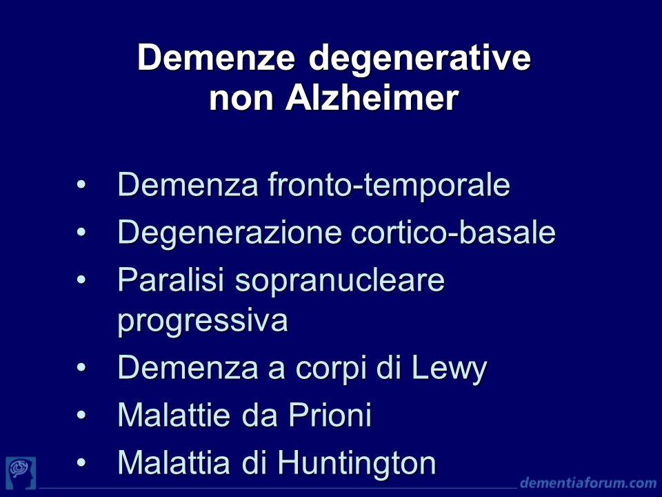 Demenze degenerative non Alzheimer