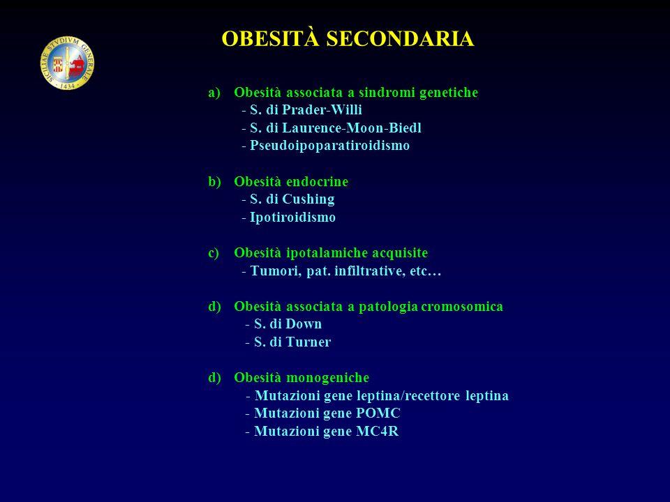 OBESITÀ SECONDARIA Obesità associata a sindromi genetiche