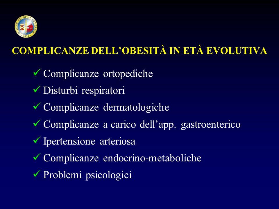 COMPLICANZE DELL'OBESITÀ IN ETÀ EVOLUTIVA