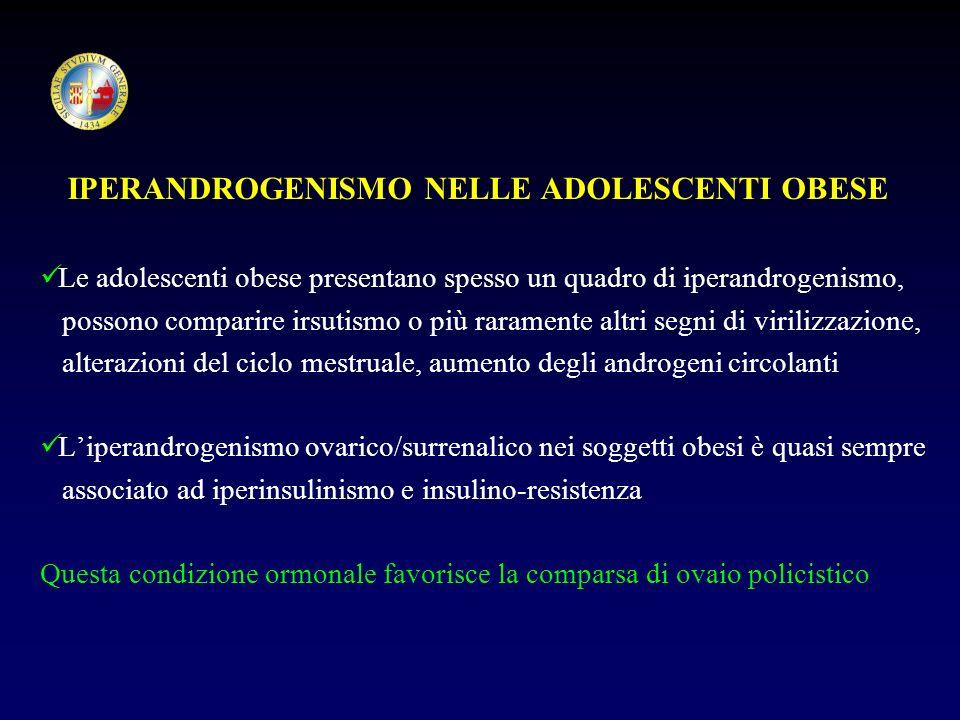 IPERANDROGENISMO NELLE ADOLESCENTI OBESE