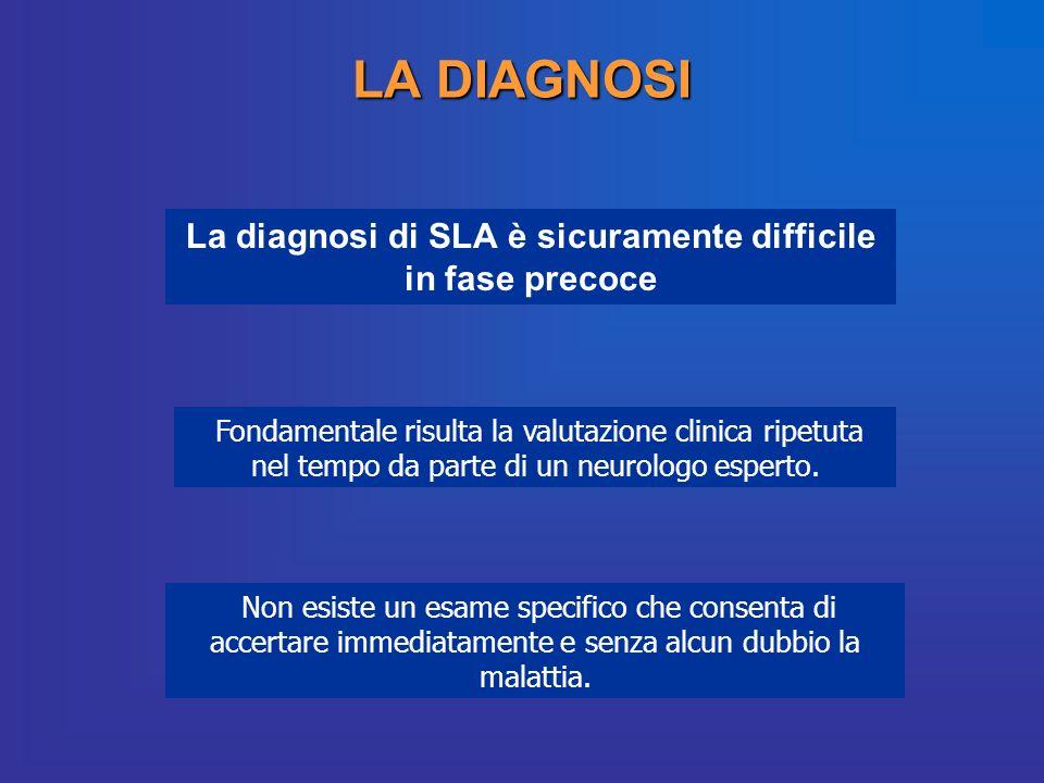La diagnosi di SLA è sicuramente difficile in fase precoce