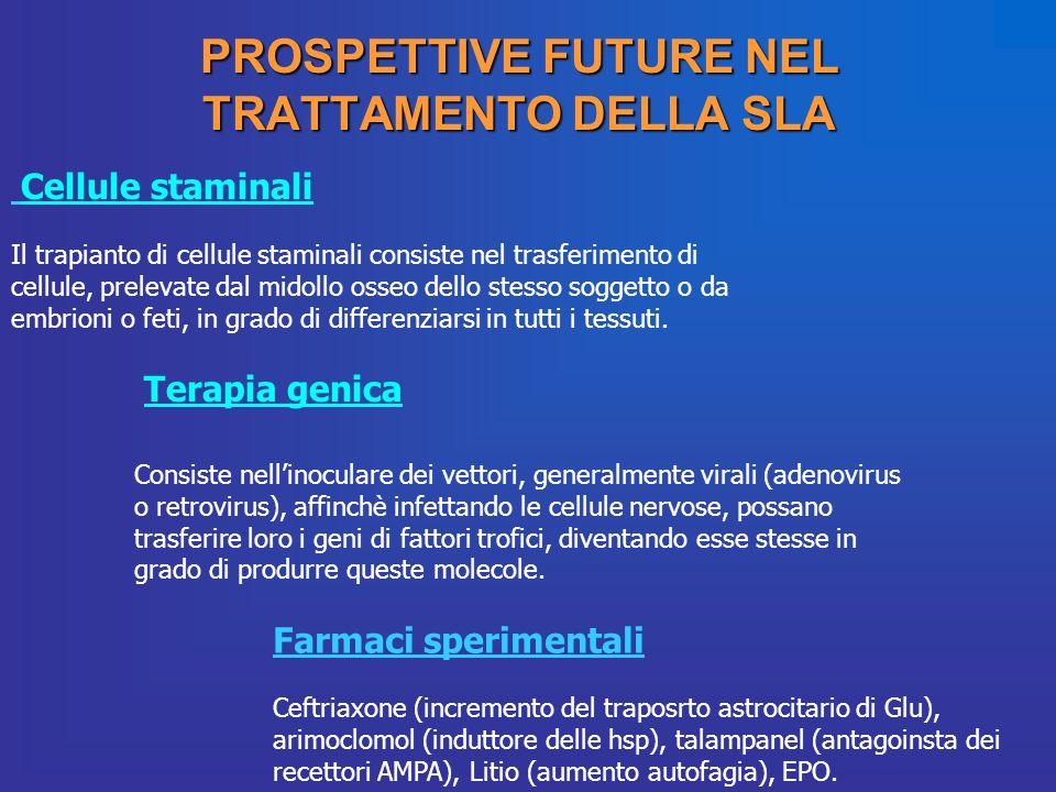 PROSPETTIVE FUTURE NEL TRATTAMENTO DELLA SLA