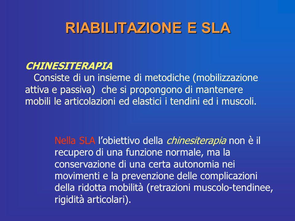 RIABILITAZIONE E SLA CHINESITERAPIA